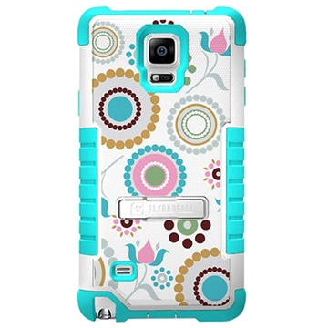 Samsung Galaxy Note 4 Beyond Cell Tri Shield Design Hybrid Cover Circle Collage