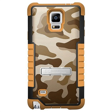 Samsung Galaxy Note 4 Beyond Cell Tri Shield Design Hybride Cover Desert Storm Camouflage
