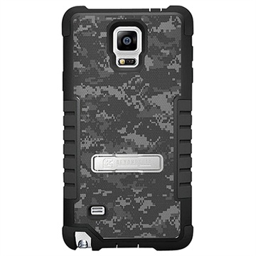 Samsung Galaxy Note 4 Beyond Cell Tri Shield Design Hybride Cover Digitale Camouflage