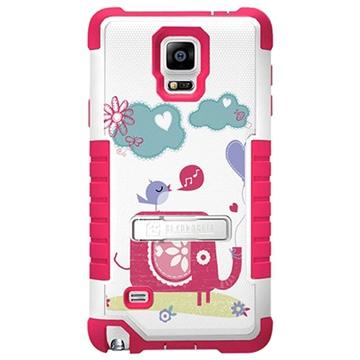 Samsung Galaxy Note 4 Beyond Cell Tri Shield Design Hybride Cover Olifant / Vogel