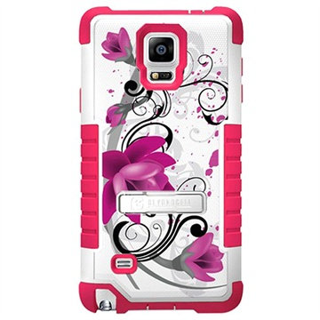 Samsung Galaxy Note 4 Beyond Cell Tri Shield Design Hybride Cover Lotusbloem