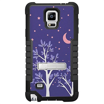 Samsung Galaxy Note 4 Beyond Cell Tri Shield Design Hybride Cover Paarse Nacht