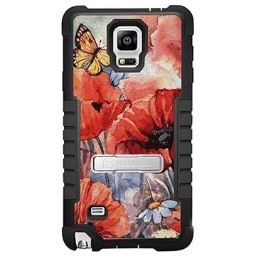 Samsung Galaxy Note 4 Beyond Cell Tri Shield Design Hybride Cover Lenteschilderij