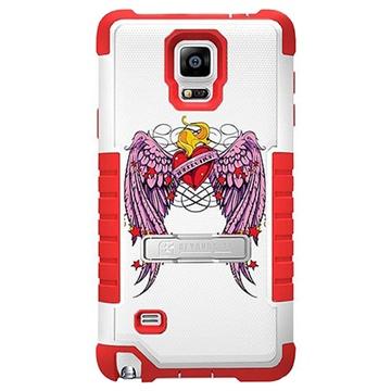 Samsung Galaxy Note 4 Beyond Cell Tri Shield Design Hybride Cover Gevleugeld Hart
