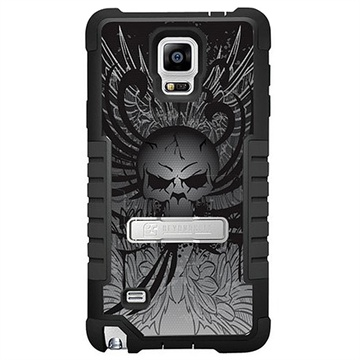 Samsung Galaxy Note 4 Beyond Cell Tri Shield Design Hybrid Cover Wing Skull