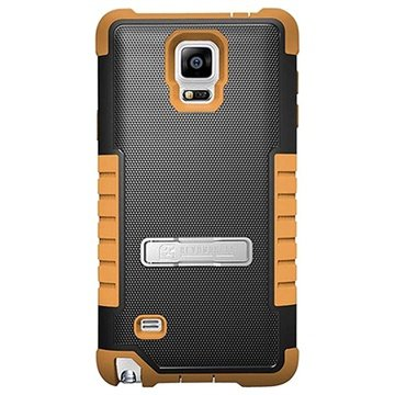 Samsung Galaxy Note 4 Beyond Cell Tri Shield Hybrid Cover Zwart / Bruin