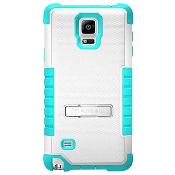 Samsung Galaxy Note 4 Beyond Cell Tri Shield Hybrid Cover Wit / Lichtblauw