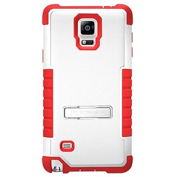 Samsung Galaxy Note 4 Beyond Cell Tri Shield Hybrid Cover Wit / Rood