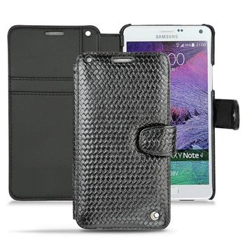 Samsung Galaxy Note 4 Noreve Tradition B Wallet Leren Hoesje - Abaca Zwart