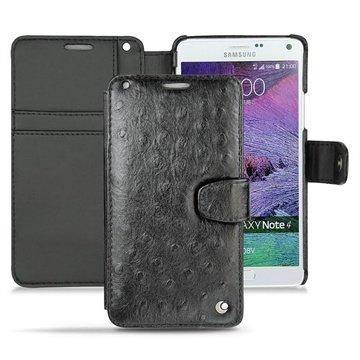Samsung Galaxy Note 4 Noreve Tradition B Wallet Leren Hoesje - Autruche Zwart