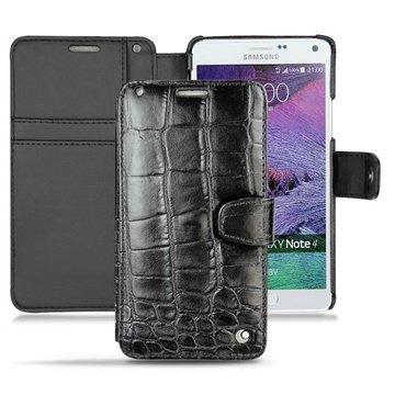 Samsung Galaxy Note 4 Noreve Tradition B Wallet Leren Hoesje - Crocodile Zwart