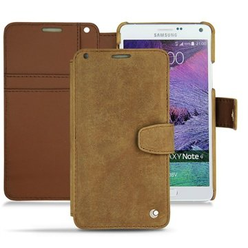 Samsung Galaxy Note 4 Noreve Tradition B Wallet Leren Hoesje - Exception Sable Vintage