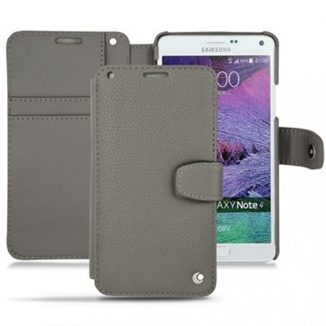 Samsung Galaxy Note 4 Noreve Tradition B Wallet Leren Hoesje - Perpétuelle Anthracite