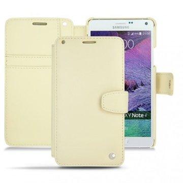 Samsung Galaxy Note 4 Noreve Tradition B Wallet Leren Hoesje - Perpétuelle Beige