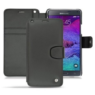 Samsung Galaxy Note 4 Noreve Tradition B Wallet Leren Hoesje - Perpétuelle Zwart