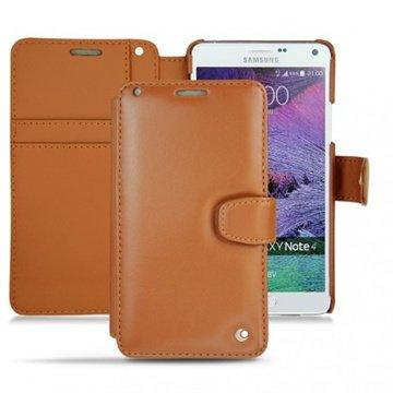 Samsung Galaxy Note 4 Noreve Tradition B Wallet Leren Hoesje - Perpétuelle Bruin