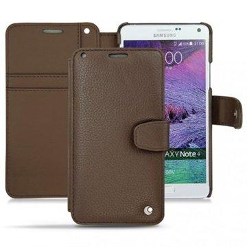 Samsung Galaxy Note 4 Noreve Tradition B Wallet Leren Hoesje - Perpétuelle Chataigne