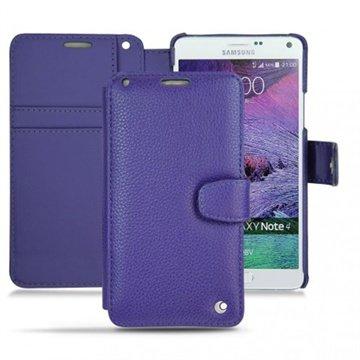 Samsung Galaxy Note 4 Noreve Tradition B Wallet Leren Hoesje - Perpétuelle Cobalt