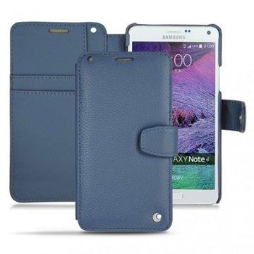 Samsung Galaxy Note 4 Noreve Tradition B Wallet Leren Hoesje - Perpétuelle Indigo