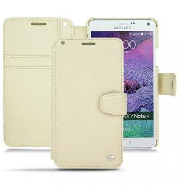 Samsung Galaxy Note 4 Noreve Tradition B Wallet Leren Hoesje - Perpétuelle Ivoire
