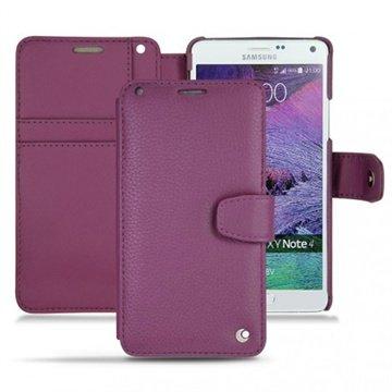 Samsung Galaxy Note 4 Noreve Tradition B Wallet Leren Hoesje - Perpétuelle Lie de vin