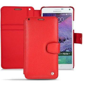 Samsung Galaxy Note 4 Noreve Tradition B Wallet Leren Hoesje - Perpétuelle Tomate