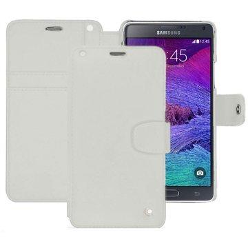 Samsung Galaxy Note 4 Noreve Tradition B Wallet Leren Hoesje - Perpétuelle Wit