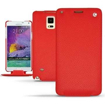 Samsung Galaxy Note 4 Noreve Tradition Flip Leren Case Ambition Tomate