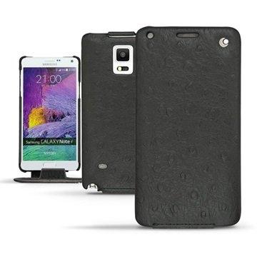 Samsung Galaxy Note 4 Noreve Tradition Flip Leren Case Autruche Zwart