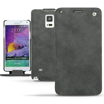 Samsung Galaxy Note 4 Noreve Tradition Flip Leren Case - Exception Donker Vintage