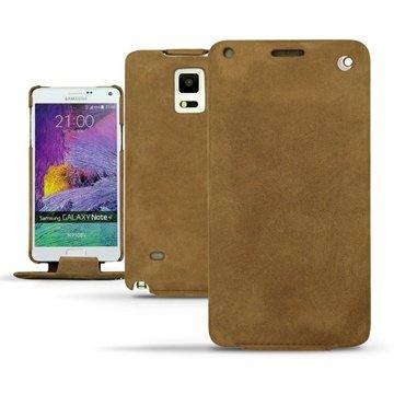 Samsung Galaxy Note 4 Noreve Tradition Flip Leren Case - Exception Sable Vintage