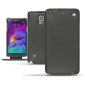 Samsung Galaxy Note 4 Noreve Tradition Flip Leren Case Perpétuelle Zwart