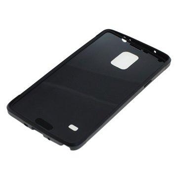 Samsung Galaxy Note 4 TPU Flip Touch Cover Zwart