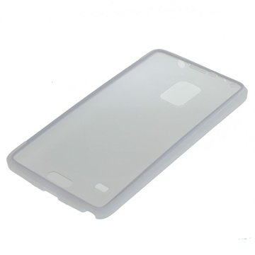 Samsung Galaxy Note 4 TPU Flip Touch Cover Doorzichtig