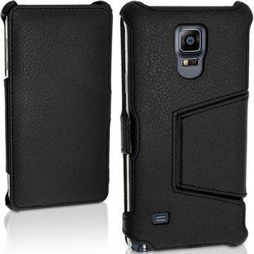 Samsung Galaxy Note 4 iGadgitz Premium Folio Leren Tas Zwart