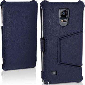 Samsung Galaxy Note 4 iGadgitz Premium Folio Leren Tas Donkerblauw