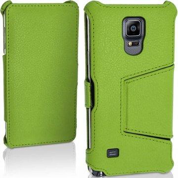 Samsung Galaxy Note 4 iGadgitz Premium Folio Leren Tas Groen