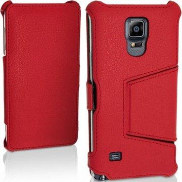 Samsung Galaxy Note 4 iGadgitz Premium Folio Leren Tas Rood