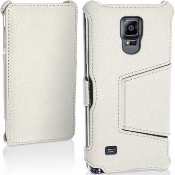 Samsung Galaxy Note 4 iGadgitz Premium Folio Leren Tas Wit