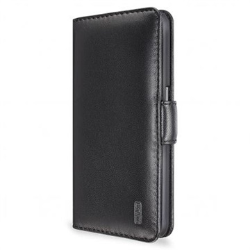 Samsung Galaxy S6 Artwizz SeeJacket Flip Leren Case Zwart