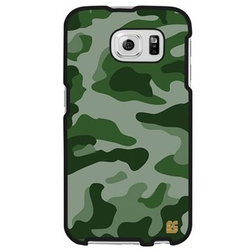 Samsung Galaxy S6 Beyond Cell Protex Design Hard Cover Groen Camouflage
