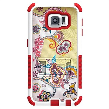 Samsung Galaxy S6 Beyond Cell Tri Shield Design Hybride Cover Bloem Abstract