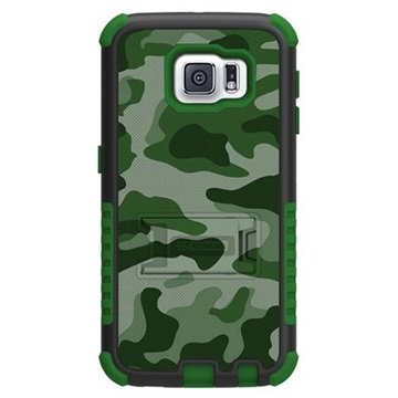 Samsung Galaxy S6 Beyond Cell Tri Shield Design Hybride Cover Groen Camouflage