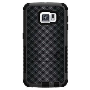 Samsung Galaxy S6 Beyond Cell Tri Shield Design Hybride Cover Carbon Fiber