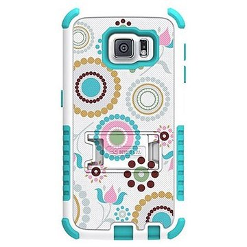Samsung Galaxy S6 Beyond Cell Tri Shield Design Hybride Cover Circle Collage