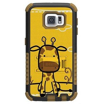 Samsung Galaxy S6 Beyond Cell Tri Shield Design Hybride Cover Giraf