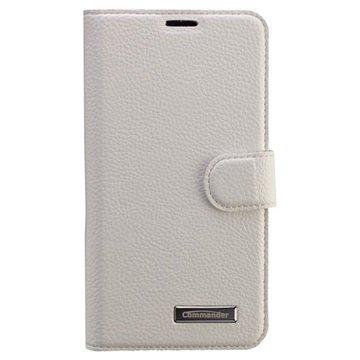 Samsung Galaxy S6 Commander Book Elite Wallet Leren Hoesje Wit