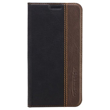 Samsung Galaxy S6 Commander Book Flip Leren Case Zwart
