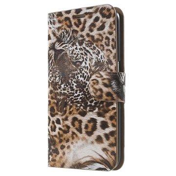 Samsung Galaxy S6 Wallet Hoesje - Luipaard Bruin