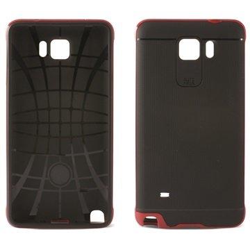 Samsung Galaxy S6 Ksix Flex Neo TPU Case Zwart / Rood